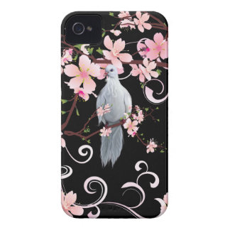 White Dove in Dogwood Blossoms iPhone 4 Cover