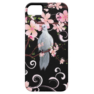 White Dove in Dogwood Blossoms iPhone SE/5/5s Case
