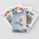 White dove in flight deck of cards