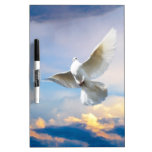 White dove in flight Dry-Erase board