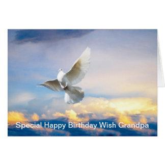White dove in flight greeting card