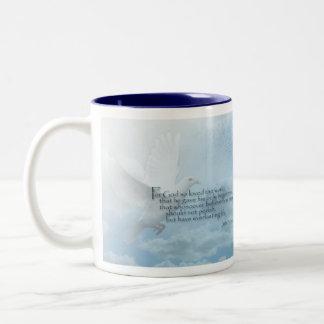 White Dove John 3:16 coffee mug