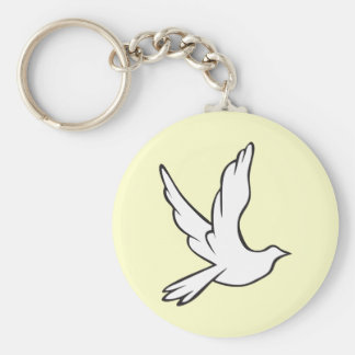White Dove Keychain