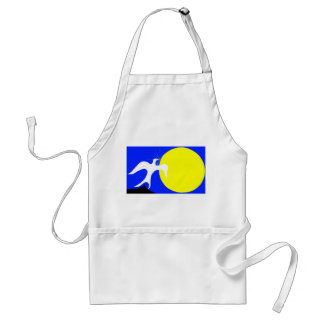 White Dove of Peace and Yellow Sun on Blue Back Aprons