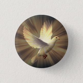 White Dove of Peace. Button