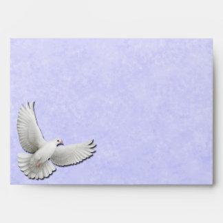 White Dove on Blue A7 Envelope