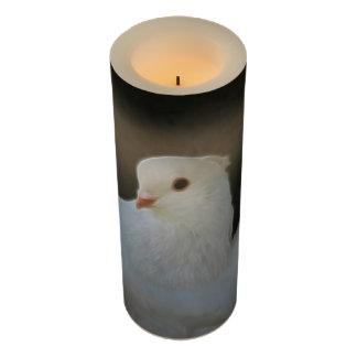 White dove peace symbol flameless candle