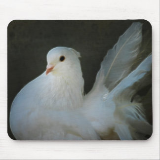White dove peace symbol mouse pads