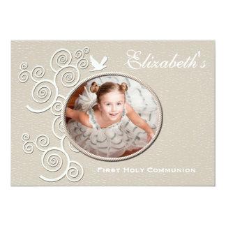 """White Dove Religious Photo Invitation Version 2 5"""" X 7"""" Invitation Card"""