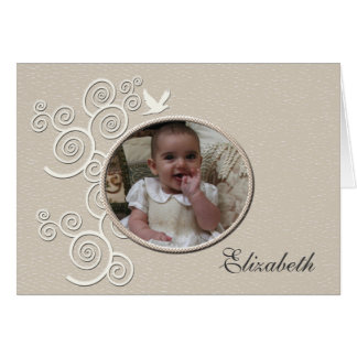 White Dove Religious Photo Notecard Greeting Card