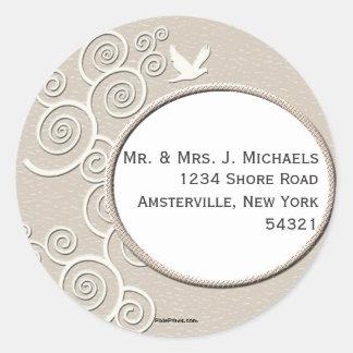 White Dove Return Address Sticker