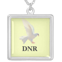 White Dove Silver Plated Necklace