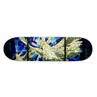 White Dove Spirit Winged Bird Skate Board Deck Art