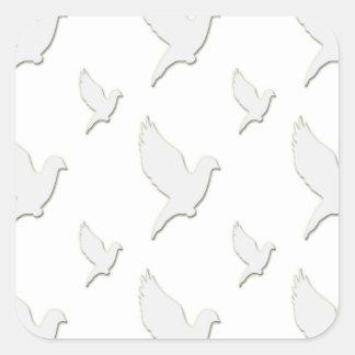 White Dove Square Sticker