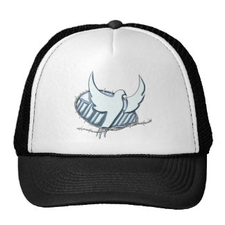 White dove w/ crown of thorns trucker hat