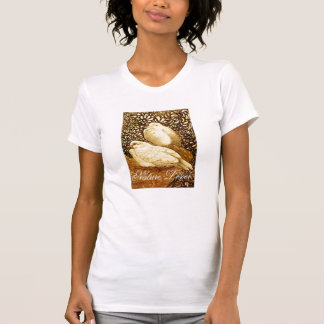 WHITE DOVES IN BROWN SEPIA  / NATURE LOVER TEES