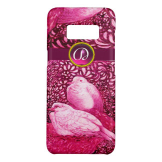 WHITE DOVES IN PINK FUCHSIA MONOGRAM Case-Mate SAMSUNG GALAXY S8 CASE