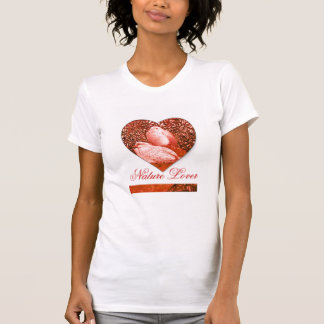 WHITE DOVES IN RED  / NATURE LOVER HEART SHIRTS