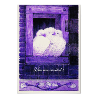 WHITE DOVES IN THE BLUE WINDOW,Wedding Party Card