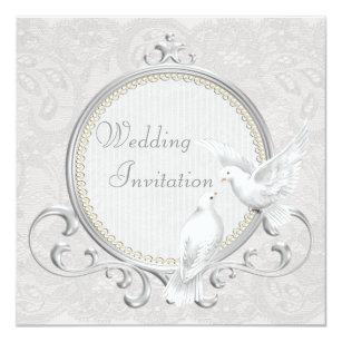Dove Wedding Invitations Announcements Zazzle