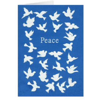 White Doves Passover Greeting Card