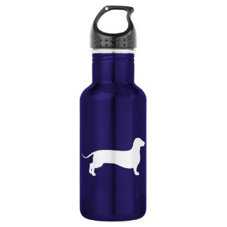 White Doxie Water Bottle