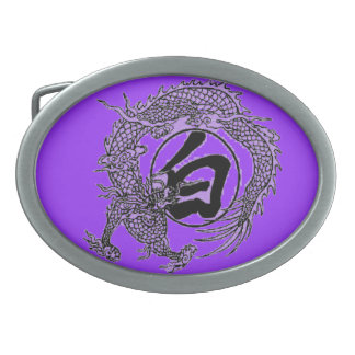 white dragon belt buckle