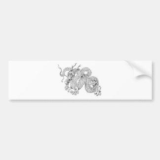 White dragon car bumper sticker