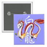White Dragon -Button- square バッジ