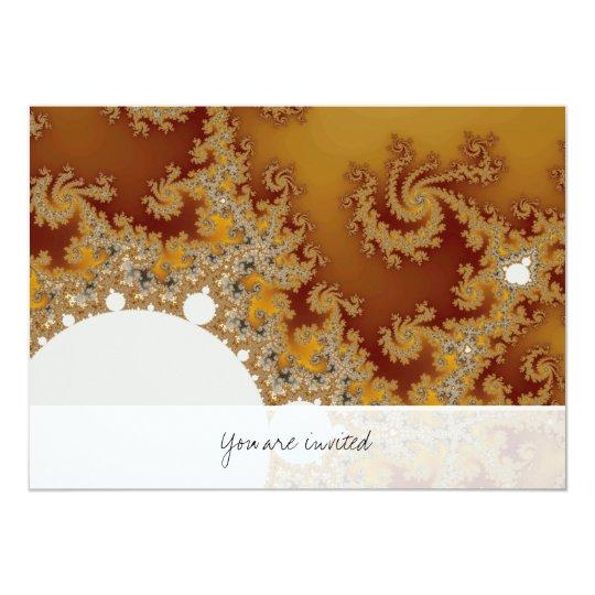 White Dragon - Fractal Art Card