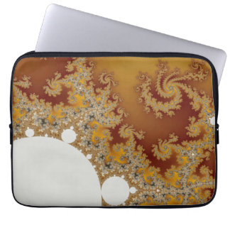 White Dragon - Fractal Art Laptop Sleeve