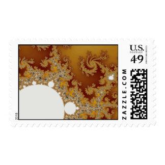 White Dragon - Fractal Art Postage Stamps