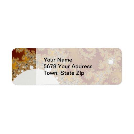 White Dragon - Fractal Art Return Address Label
