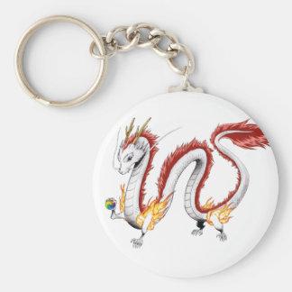White Dragon - Keychain- Keychain
