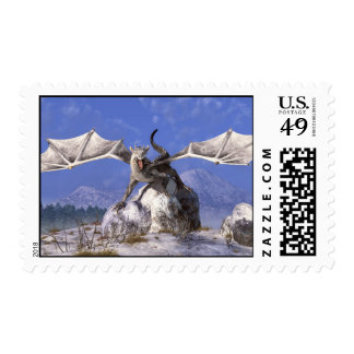 White Dragon Postage Stamps