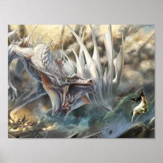 White Dragon Poster