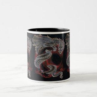"""White Dragon Red Moon"" 3 panel mug"
