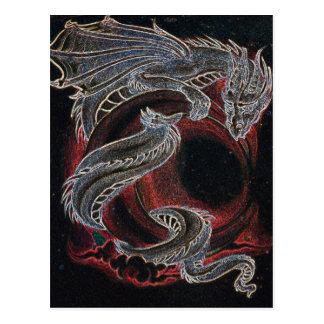 White Dragon Red Moon Postcard