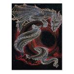 White Dragon Red Moon Postcards