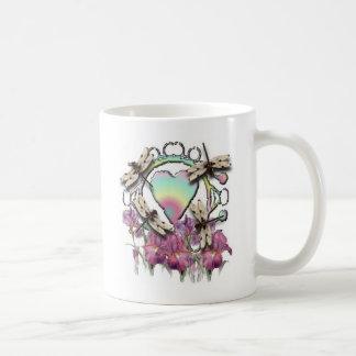 White Dragonflies Mug