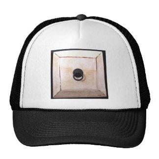 white drawer trucker hat