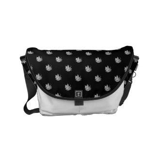 white dream - curing ashes small small messenger bag