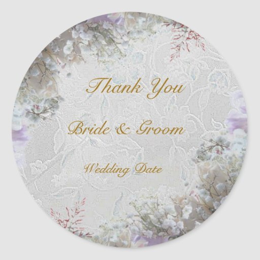 White Dream Wedding Sticker