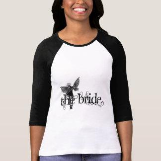 White Dress Fairy B&W Negative - The Bride
