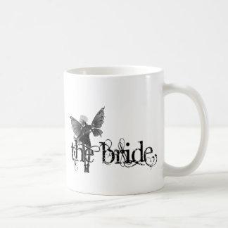 White Dress Fairy B&W Negative - The Bride Coffee Mug