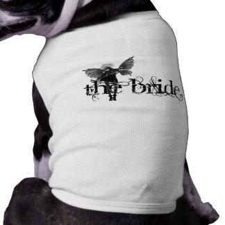 White Dress Fairy B&W Negative - The Bride Dog Tee