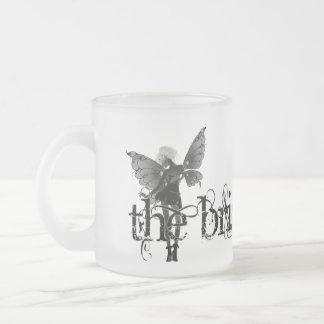 White Dress Fairy B&W Negative - The Bride Frosted Glass Coffee Mug