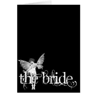 White Dress Fairy B&W - The Bride Card