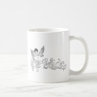 White Dress Fairy B&W - The Bride Coffee Mug