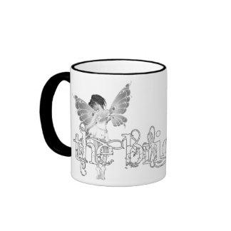 White Dress Fairy B&W - The Bride Ringer Mug